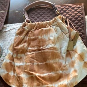 Vince Camuto soft leather tan & cream like new!